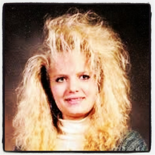 I don't know this person... but this was what the popular girls did to their hair back then.